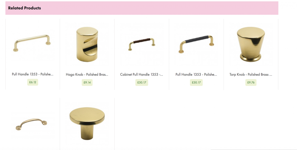 The picture show the knobs that will match handles in polished brass.