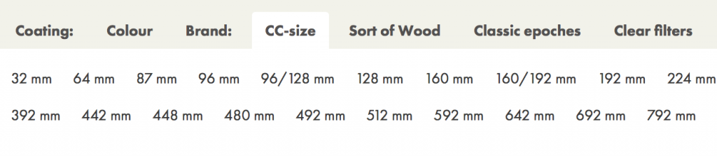 Picture describing how to filter based on cc-size
