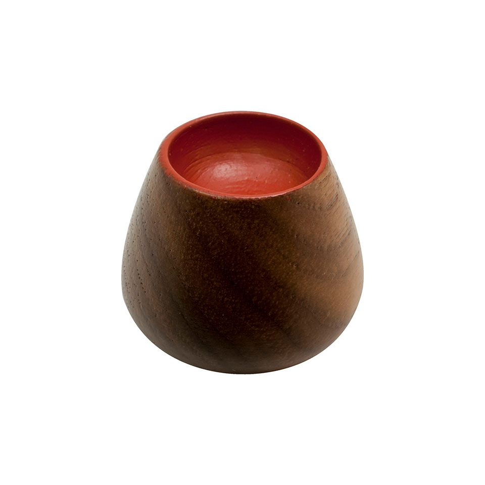 Flower Bud 34 Knob - Wood / Walnut / Dark Red - Beslag Design