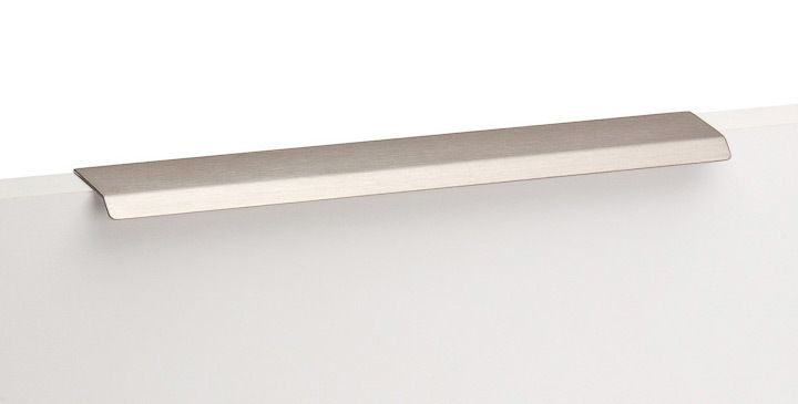 Curve Handtag - Rostfri Look - Beslag Design - 200 mm