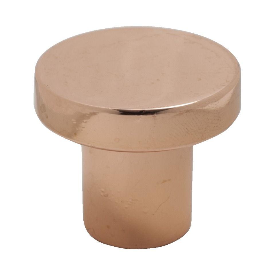 Grace Straight Copper Knob - Polished Copper - Aspa Verkstad