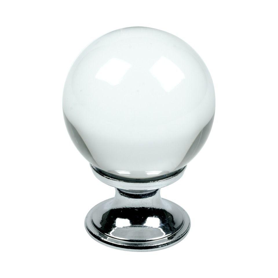Cabinet Drawer Knob / Pull Crystal - 30 - Glass / Chrome - Beslag Design