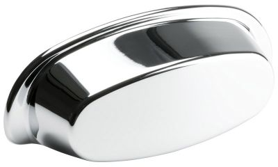 Pharma Cup Pull / Shell Handle - Chrome - Beslag Design