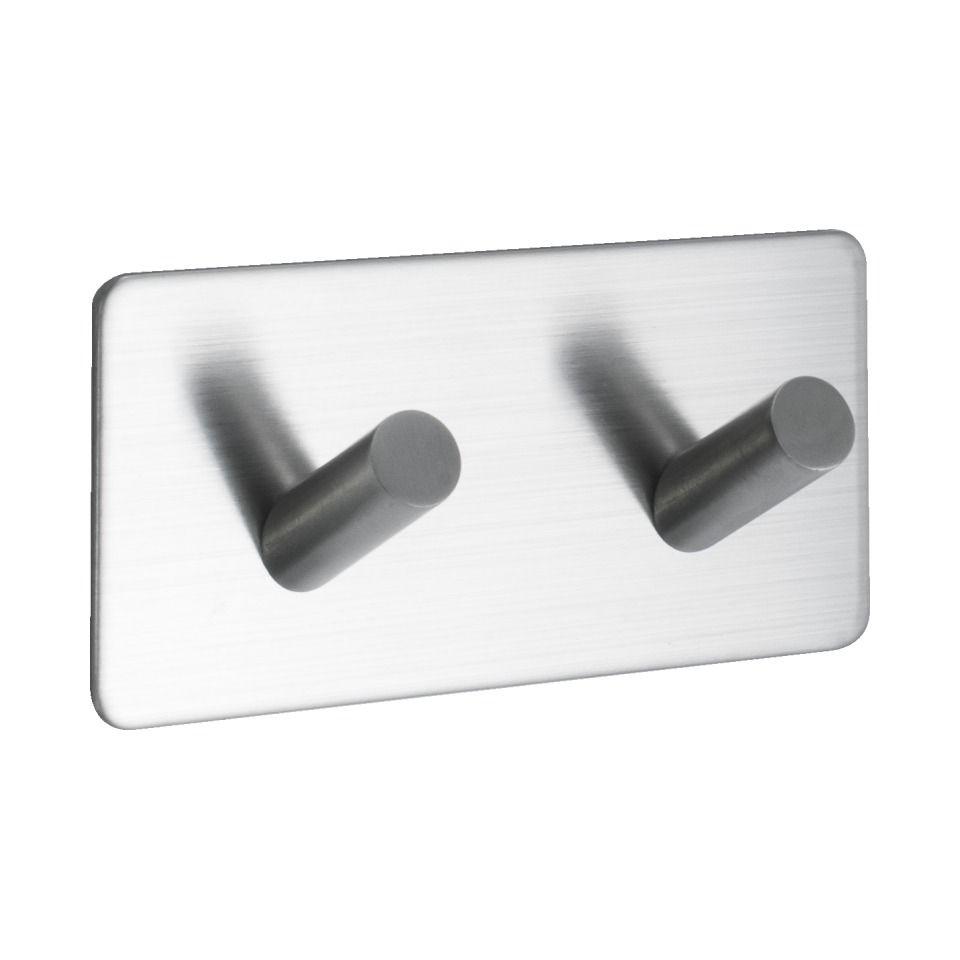 Base 200 2-Hook - Satin Stainless Steel - Beslag Design