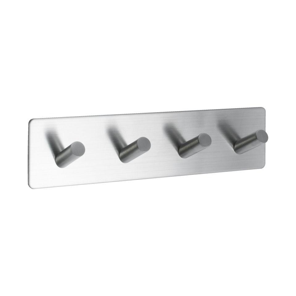 Base 200 4-Hook - Satin Stainless Steel - Beslag Design