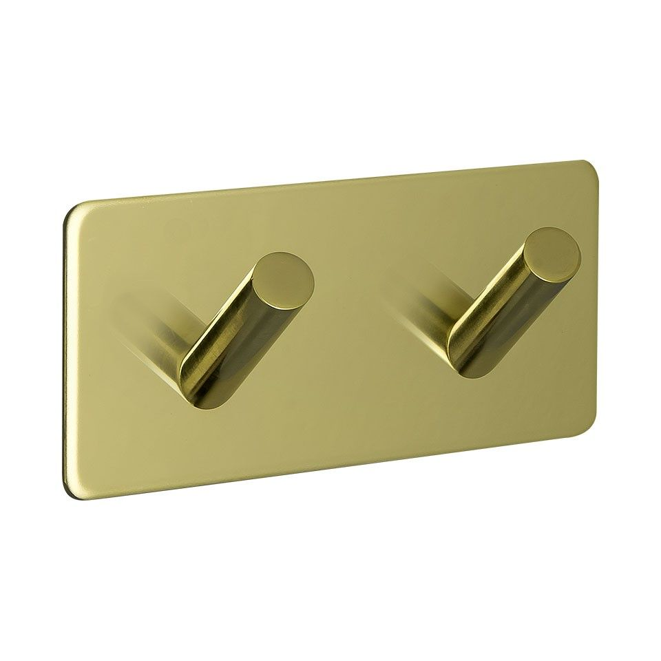 Base 200 2-Hook - Polished Brass - Beslag Design
