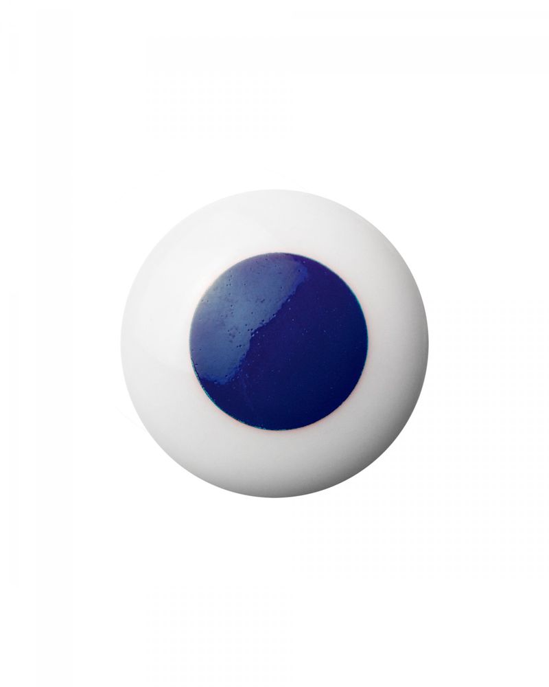 Dot porcelāna pogveida rokturis / āķis  - Blue - Anne Black