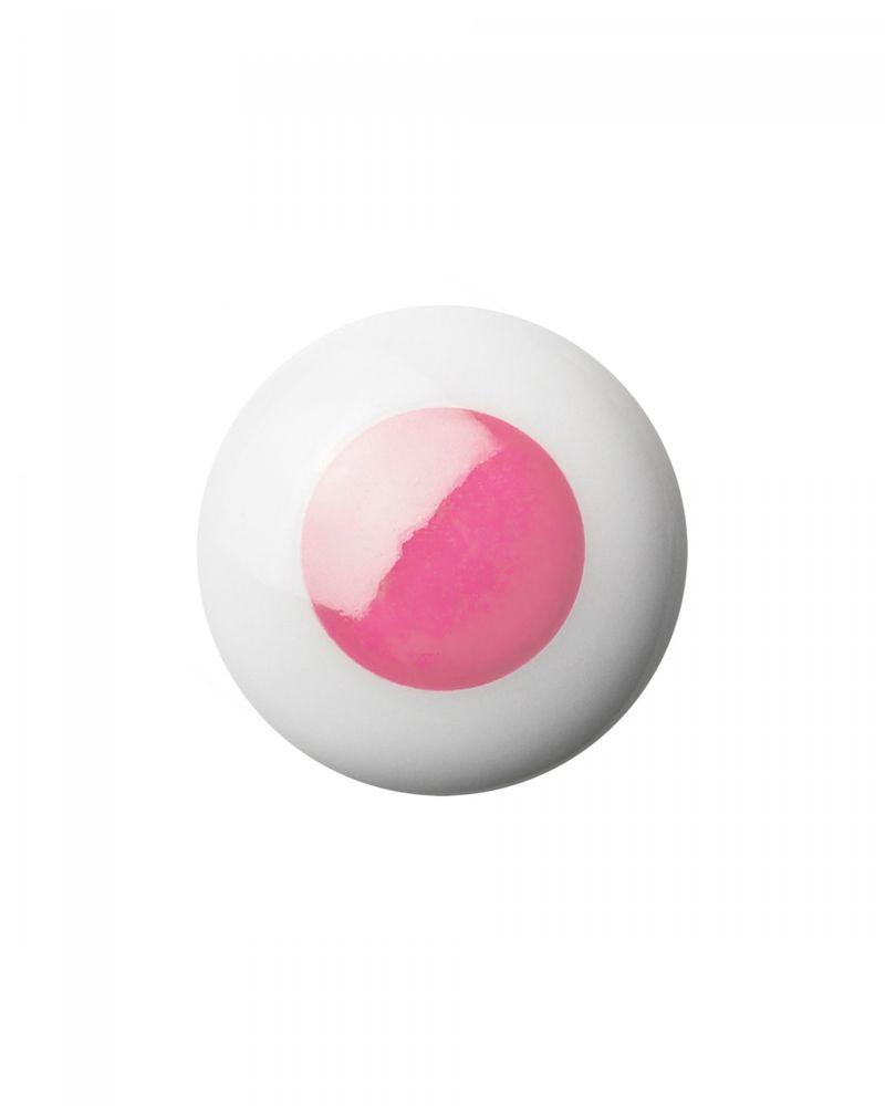 Dot porcelāna pogveida rokturis / āķis - Pink - Anne Black