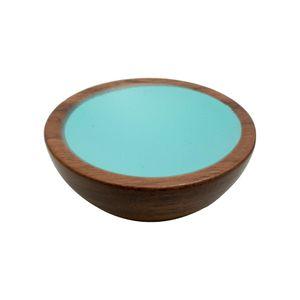 Wok 50 Knob - Wood / Walnut / Turquoise - Beslag Design
