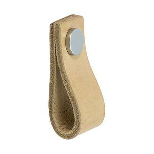 Nahkavedin Loop - Värjäämätön nahka / Kiillotettu kromi - Beslag Design