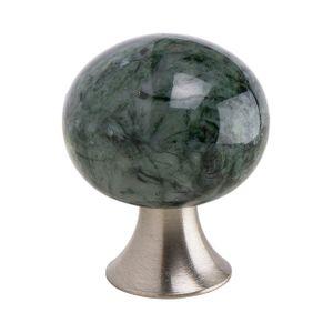 Bead Straight Knop - Groen Marmeren - Furnipart