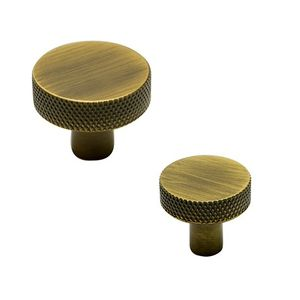Flat Knob - Antique Bronze - Beslag Design