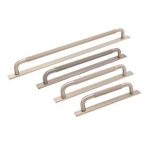 Helix Handle on Backplate - Stainless Steel Look - Beslag Design