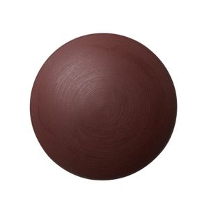 Matte Porcelain Knob / Hook - Burgundy Red - Anne Black